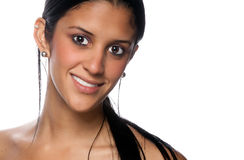 Hispanic Girl portrait smiling. Stock Photo