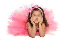 Hispanic Girl in Princess Costume Stock Images
