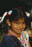 Hispanic girl in traditional costume at Olvera Street, Los Angeles, California Stock Photo