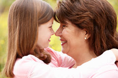 Hispanic grandmother and granddaughter Stock Photography