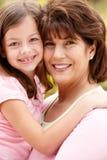 Hispanic grandmother and granddaughter Stock Photos