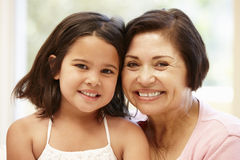 Hispanic grandmother and granddaughter Stock Photos