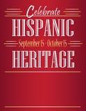 Hispanic Heritage Month Poster. September 15 through October 15 royalty free illustration