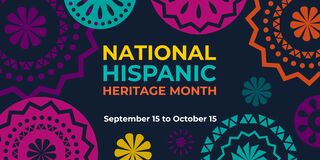Free Hispanic Heritage Month. Vector Web Banner, Poster, Card For Social Media And Networks. Greeting With National Hispanic Heritage Royalty Free Stock Photo - 193798675