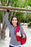 Hispanic latin teenager girl backpack Stock Photos