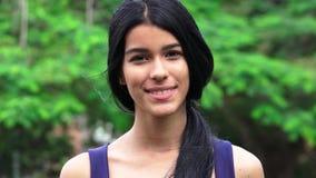Hispanic Latina Teen Female. A young hispanic female teen royalty free stock image