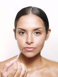 Hispanic makeup. Stock Photos