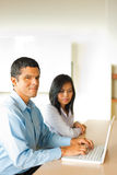 Hispanic Male Asian Female Business People Stock Image