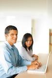 Hispanic Male Asian Female Business People Stock Image