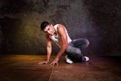 Hispanic male hip-hop dancing stock photos