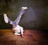 Hispanic male hip-hop dancing Stock Image