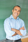 Hispanic Male Teacher Stock Photo