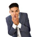Hispanic man expression Royalty Free Stock Images
