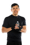 Hispanic Man Holding Bottled Water Stock Images