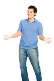 Hispanic Man Open Outstretched Arms Inviting Hug Royalty Free Stock Photos