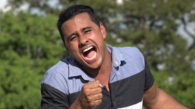 Hispanic Man Singing. A handsome adult hispanic man stock video