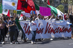 Hispanic march against Donald Trump Stock Photography