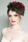 Hispanic model as bride Royalty Free Stock Images