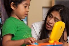 Hispanic Child Learning Royalty Free Stock Photography