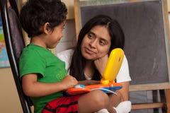 Hispanic Child Learning Stock Photography