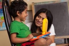Hispanic Child Learning Stock Images