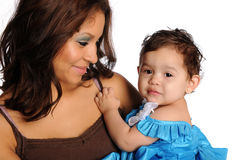 Hispanic Mother and Daughter Royalty Free Stock Photos