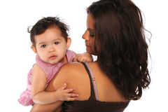 Hispanic Mother and Daughter Stock Images