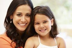 Hispanic mother and daughter stock photos