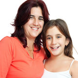 Hispanic mother and her small daughter Stock Photo