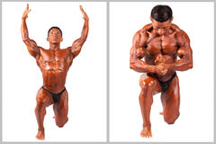 Hispanic Muscle man posing, set Stock Images