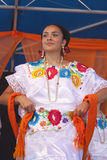 Hispanic New Mexico dancer. International Folk Art Market held annually in Santa Fe, New Mexico,  USA, Mexican traditional folk dance Royalty Free Stock Photos