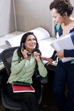 Hispanic office workers in the workplace Stock Photos