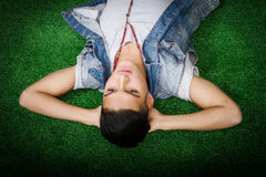 Hispanic relaxing Royalty Free Stock Photos