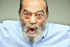 Colombian Man And Anger. A hispanic senior adult male Stock Photography