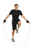Hispanic Senior Jumping Rope Stock Image