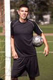 Hispanic soccer or football player Royalty Free Stock Photos