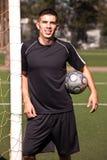 Hispanic soccer or football player Royalty Free Stock Photos