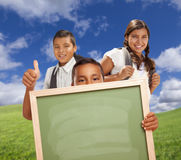 Hispanic Student Give Thumbs Up Stock Photo