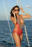Hispanic Swimsuit Model Stock Image