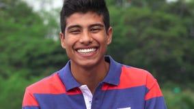 Hispanic Teen Boy Laughing