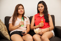 Hispanic teenage best friends Stock Images
