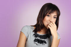 Hispanic teenager girl Stock Images