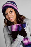 Hispanic Winter Girl Stock Photography