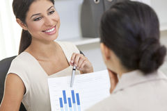 Hispanic Woman or Businesswoman in Office Meeting Royalty Free Stock Images