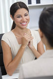 Hispanic Woman or Businesswoman in Office Meeting Royalty Free Stock Photography