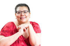Hispanic Woman Diagnosed With Breast Cancer Royalty Free Stock Photography