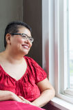 Hispanic Woman Diagnosed With Breast Cancer Stock Image