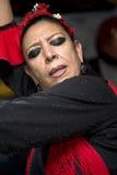 Hispanic woman flamenco dancing Royalty Free Stock Photos