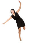 Hispanic woman flight mimic stock photos