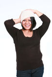 Hispanic woman in hat Royalty Free Stock Images